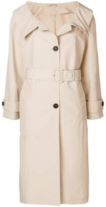 Prada wide collar trench coat