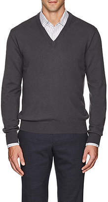 Barneys New York Men's Cashmere V-Neck Sweater - Gray
