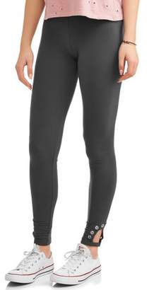 Hot Gal Juniors' Brushed Ankle Leggings with Grommets