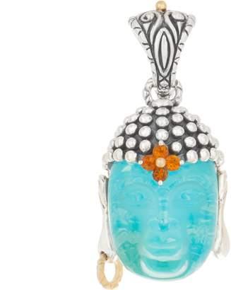 Barbara Bixby Sterling Silver & 18K Turquoise Doublet Buddha Enhancer