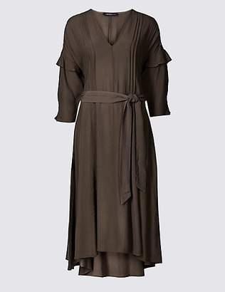 Limited Edition Lace Insert 3/4 Sleeve Midi Dress