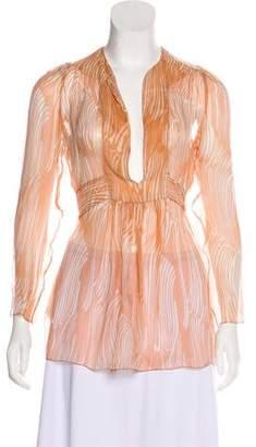 Prada Sheer Silk Top