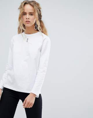 Asos Design DESIGN long sleeve t-shirt with hope graphic