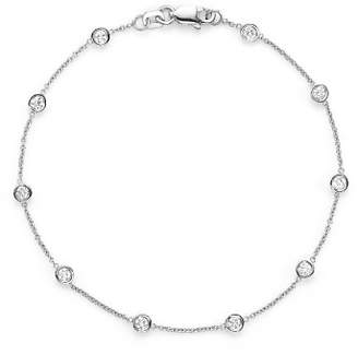 Bloomingdale's Diamond Station Bracelet in 14K White Gold, .50 ct. t.w. - 100% Exclusive