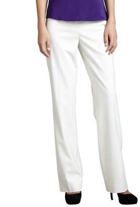 Lafayette 148 New York Menswear Straight-Leg Stretch-Wool Pants, Plus Size