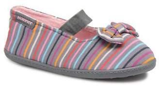 Isotoner Kids's Ballerine Suédine Et Jersey Slippers - Size Uk 11 Kids / Eu 29