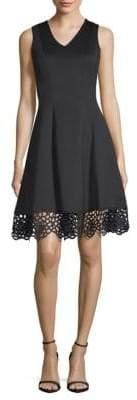 Donna Ricco V-Neck Scuba Dress