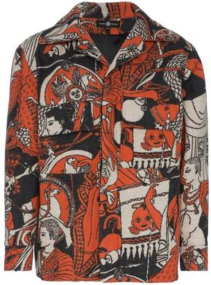 Edward Crutchley Multi Print Wool-Blend Jacquard Jacket
