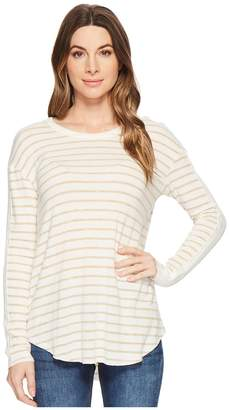 Michael Stars Super Soft Madison Long Sleeve Crew Neck Women's Clothing