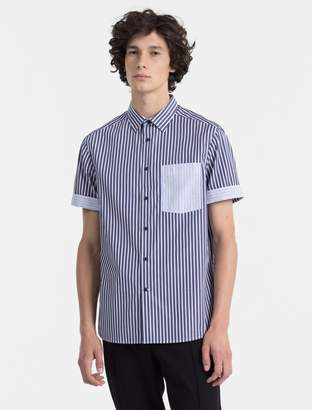 Calvin Klein relaxed fit combined stripe shirt