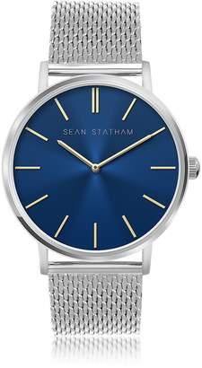 Sean Statham Stainless Steel Unisex Quartz Watch w/Blue Dial