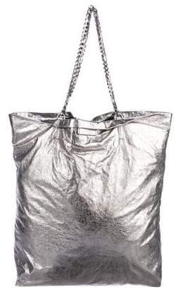 Lanvin Foiled Leather Shoulder Bag