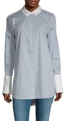 Equipment Hi-Lo Cotton Button-Down Shirt