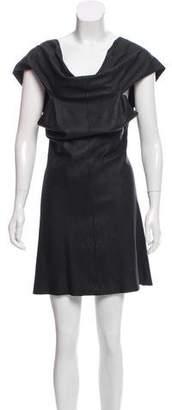 Rick Owens Leather Knee-Length Dress