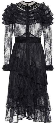 Dodo Bar Or Crystal-embellished lace dress