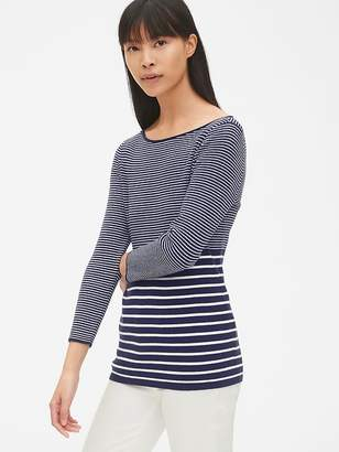 Gap Ribbed Three-Quarter Sleeve Boatneck Pullover Sweater