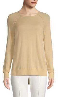 St. John Cashmere-Knit Raglan Sweater