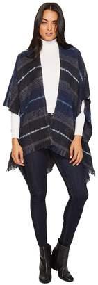 Echo Mulberry Boucle Ruana Women's Sweater