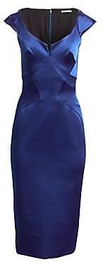 Zac Posen Women's Stretch Satin Cocktail Dress
