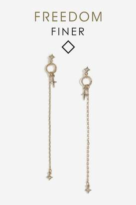 Topshop Freedom Finer Star Drop Earrings