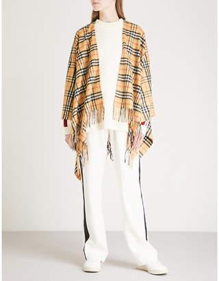 Burberry Vintage check cashmere wool cape