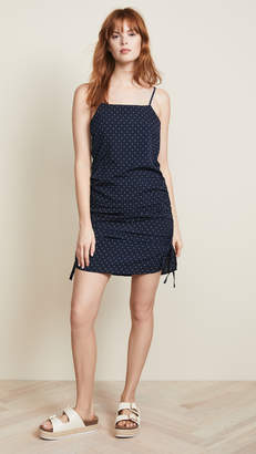 J.o.a. Navy Dot Mini Dress