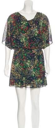 Alice + Olivia Printed Silk Mini Dress