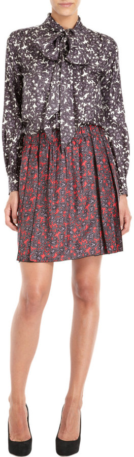 Marc Jacobs Paisley Pleated Skirt