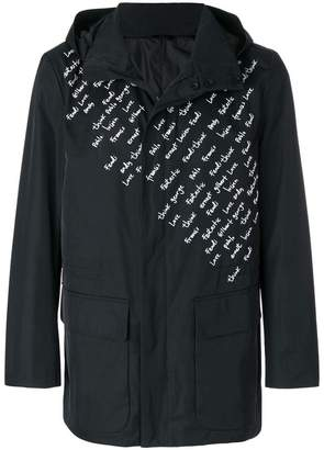 Fendi embroidered motif raincoat