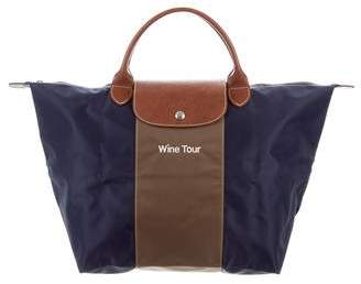 Longchamp Striped Le Pliage Tote