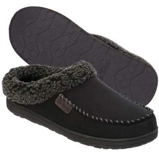 Dearfoams Indoor/Outdoor Men's Clog Slipper - Comfortable, Cushioned Clog Slippers with Rubber Sole and Whipstitch Design