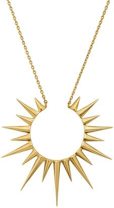 Celine Daoust Solid Sun Necklace - Yellow Gold