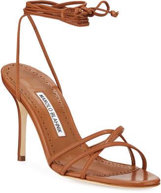 7e56b6e1dc40 Manolo Blahnik Stiletto Heel Women s Sandals - ShopStyle
