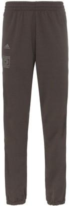 adidas burgundy Calabasas stripe print sweat pants