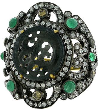 Artisan Jewelry Artisan 18K & Silver 5.67 Ct. Tw. Diamond & Gemstone Ring