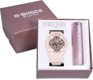 G-Shock Women's Analog-Digital Blush Resin Strap Watch 45.9mm Gift Set