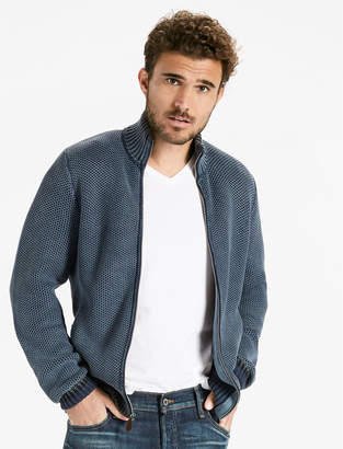 Lucky Brand Full Zip Mock Neck Sweater