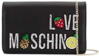 Love Moschino appliqué clutch bag
