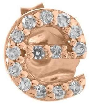 KC Designs Rose Gold Diamond E Single Stud Earring