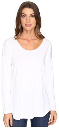 Lilla P - Long Sleeve Slit Back Women's Clothing $94 thestylecure.com