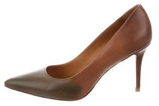 Acne Studios Leather Pointed-Toe Pumps