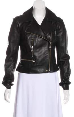 Versus Leather Moto Jacket