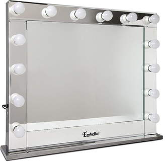 clear Dwelllifestyle Make Up Mirror Frame with LED Lights