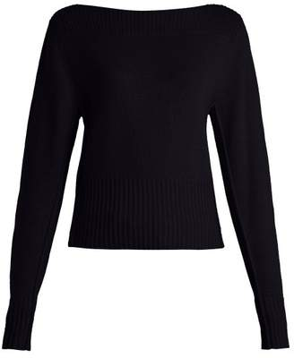 Chloé - Boat Neck Cashmere Sweater - Womens - Navy