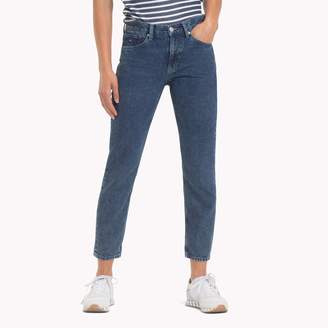 Tommy Hilfiger Stone Washed High Rise Cropped Jean