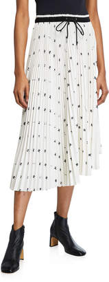 Proenza Schouler Pswl x Grateful Dead Bear Pleated Midi Skirt