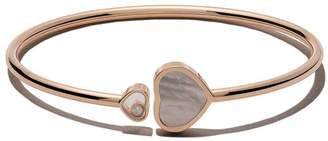 Chopard 18kt rose gold Happy Dreams pink mother-of-pearl and diamond bangle