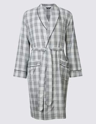 Marks and Spencer Supima® Cotton Slim Fit Dressing Gown