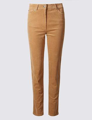 Marks and Spencer Cotton Rich Slim Leg Trousers