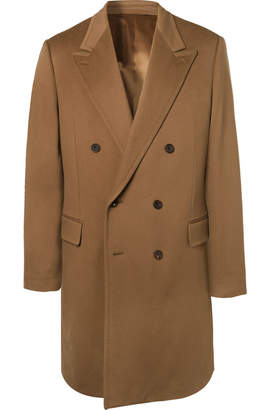 Kingsman - Double-Breasted Cashmere and Wool-Blend Overcoat